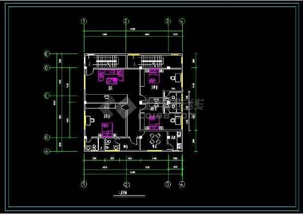 某地多层商住楼建筑方案设计cad施工图-图2