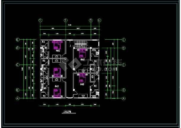 某地多层商住楼建筑方案设计cad施工图-图3