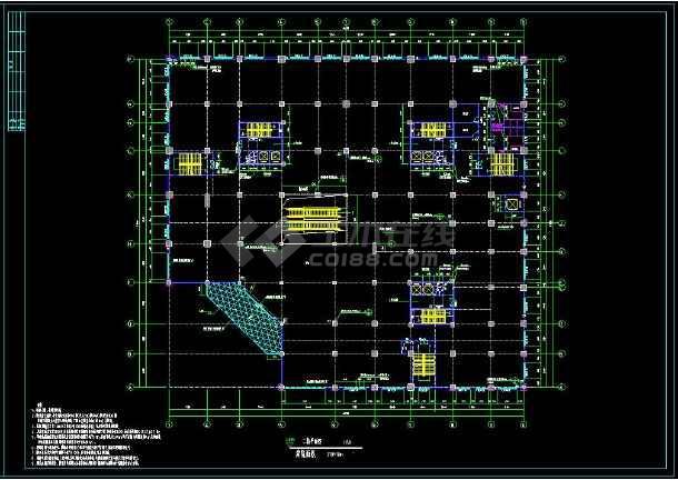 某地多层商场建筑方案设计cad平面施工图-图1