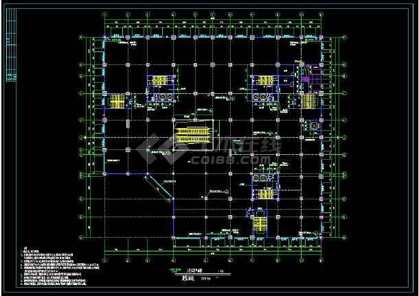 某地多层商场建筑方案设计cad平面施工图-图3