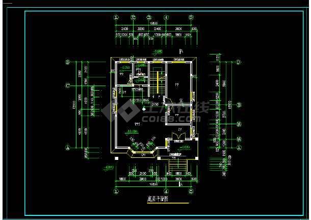 某砖混结构私人别墅建施图纸附效果图-图3