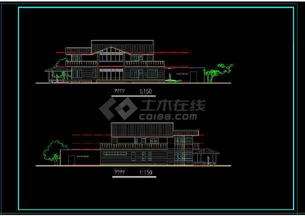 某地区某独栋别墅建筑施工图附效果图-图3