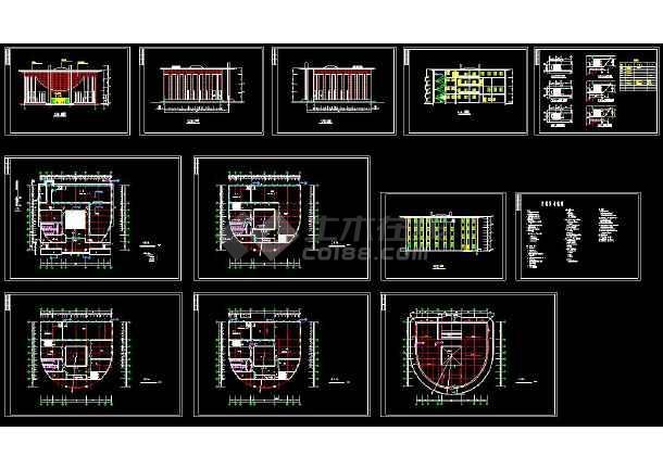 某地学校图书馆建筑设计cad施工方案图(含设计说明)