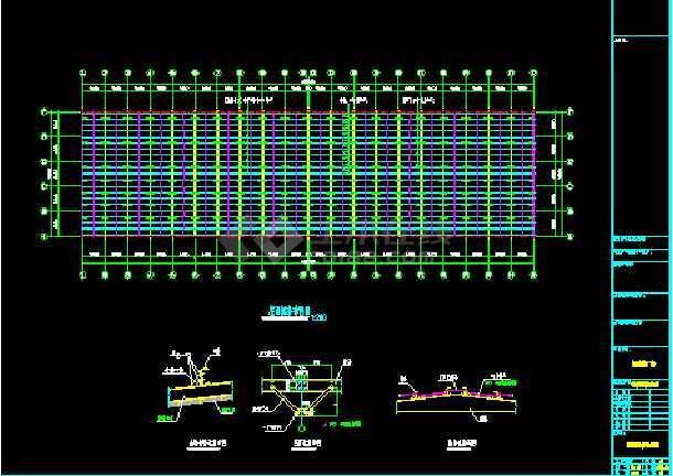 某公司108×30厂房工程CAD设计施工图-图1