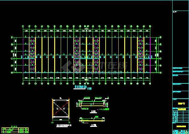 某公司108×30厂房工程CAD设计施工图-图2