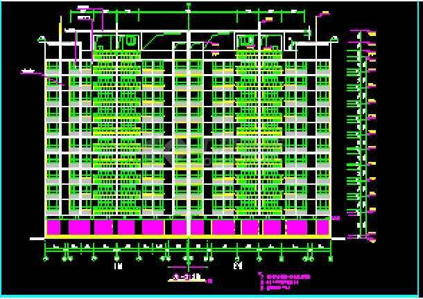 某市十层商住楼建筑全套cad施工设计图纸-图1