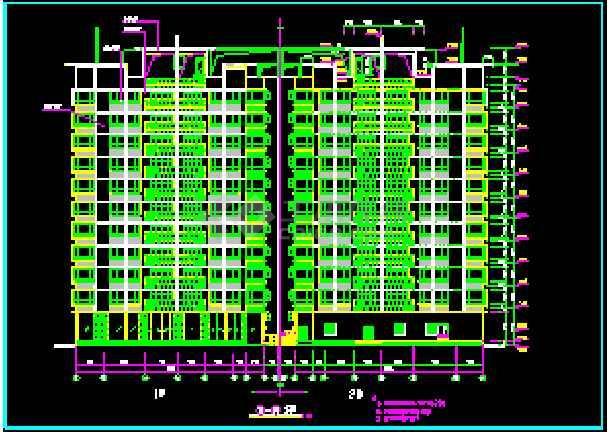 某市十层商住楼建筑全套cad施工设计图纸-图2