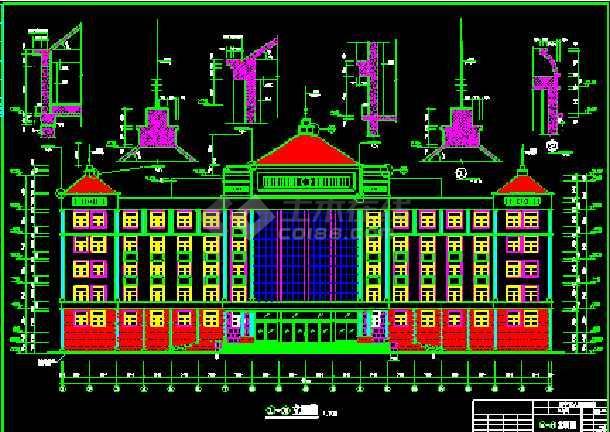 某市办公楼建筑CAD全套设计施工图纸-图1