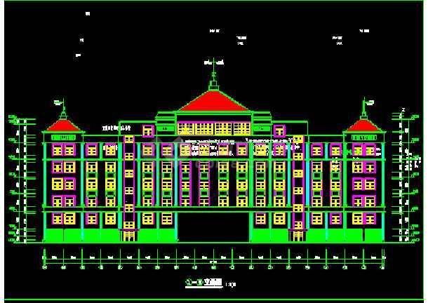 某市办公楼建筑CAD全套设计施工图纸-图2