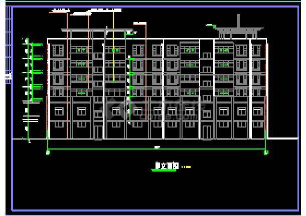 某市商住楼全套建筑设计cad施工图纸-图1