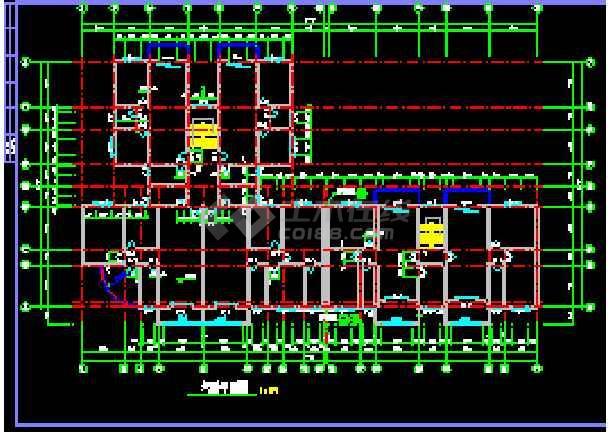 某市商住楼全套建筑设计cad施工图纸-图2