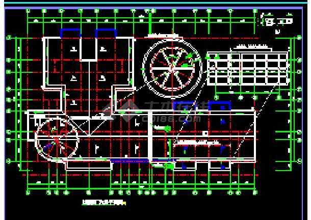 某市商住楼全套建筑设计cad施工图纸-图3