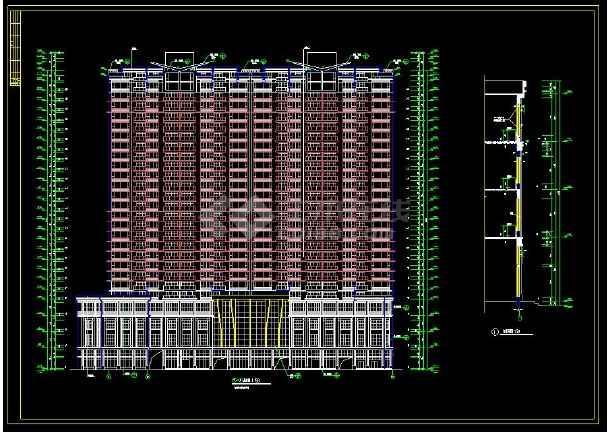 某地高层住宅建筑设计全套cad施工图-图1