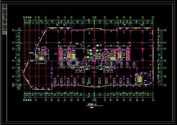 某地高层住宅建筑设计全套cad施工图-图3