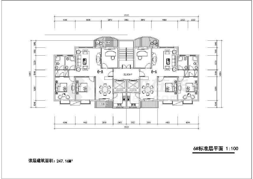 某小区多层住宅楼户型设计图(共7张)