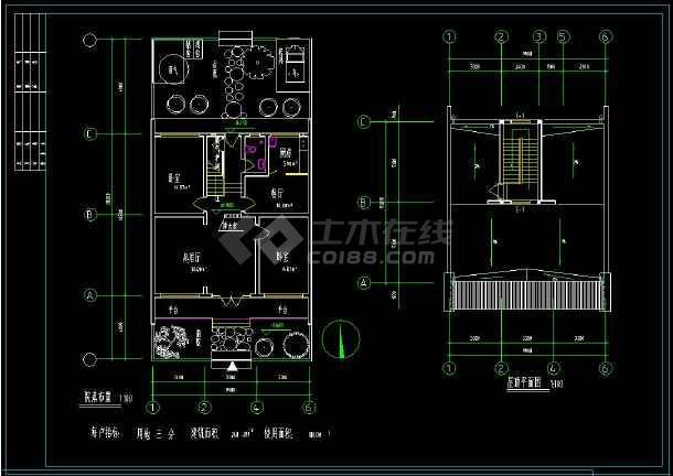 某地小康生活住宅建筑设计全套cad施工图(含设计说明)-图1