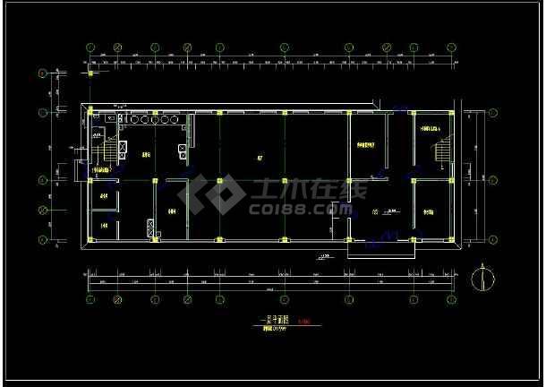 某学生宿舍楼建筑图整套cad设计图-图3