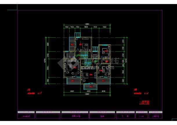 某地区某农村住宅设计cad建筑方案图-图2
