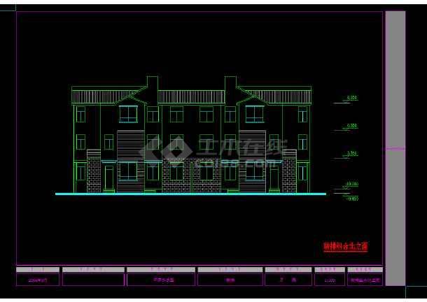 某地区某农村住宅设计cad建筑方案图-图3