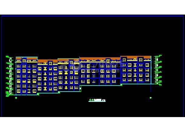 某小区多层转角楼住宅楼CAD建筑施工设计图纸-图1