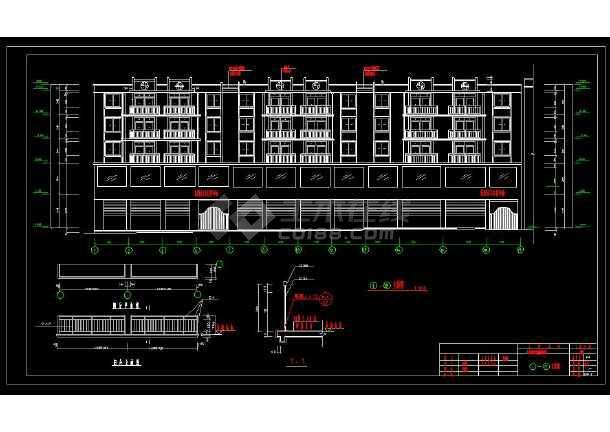 某地商住综合楼建筑设计cad施工图-图1