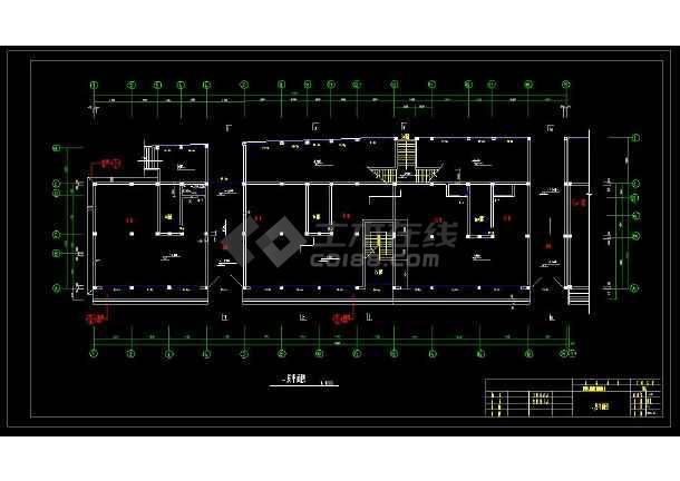 某地商住综合楼建筑设计cad施工图-图3
