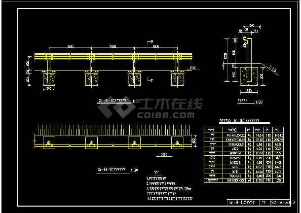 新规范全套梁护栏波形CAD图纸变频电机图纸2d图片