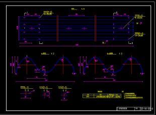 新规范图纸梁图纸护栏CAD全套名人上级波形图片