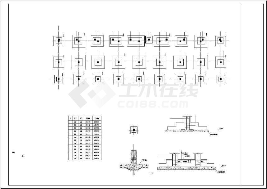 某地一套3层框架宿舍结构施工图纸-图1