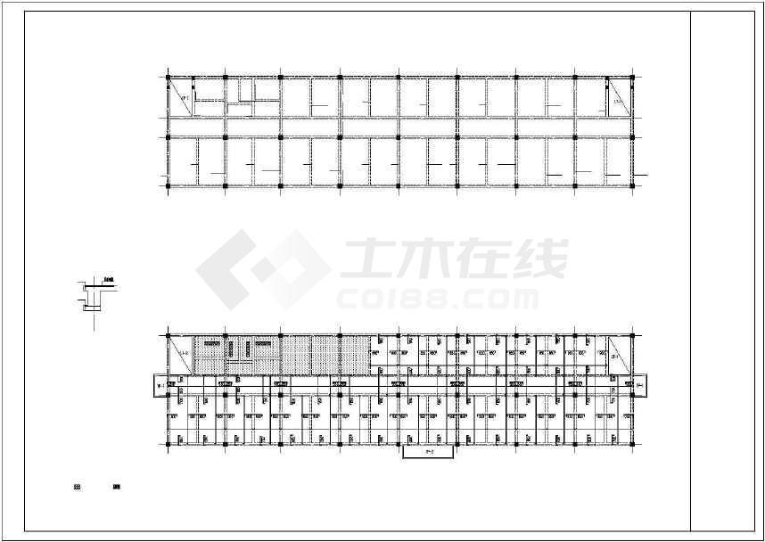 某地一套3层框架宿舍结构施工图纸-图3