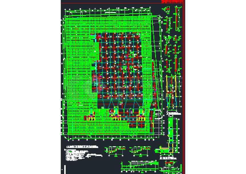 一套比较简单的地下室结构施工图纸-图1