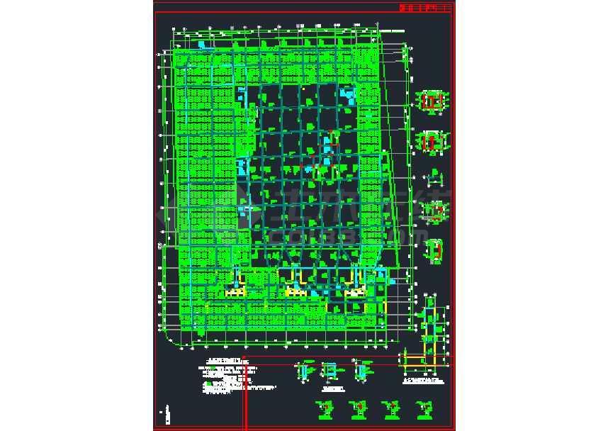 一套比较简单的地下室结构施工图纸-图2