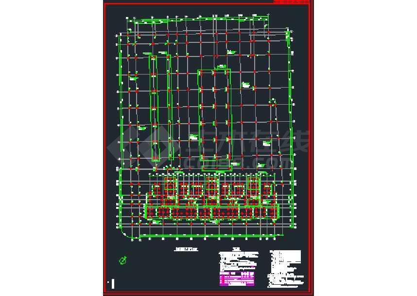 一套比较简单的地下室结构施工图纸-图3