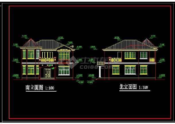 某地区某独栋别墅设计cad建筑施工图纸-图2