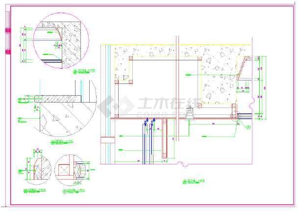某高档五星级标准客房设计施工CAD图-图3