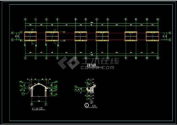 某地联排住宅楼建筑设计cad施工图-图2