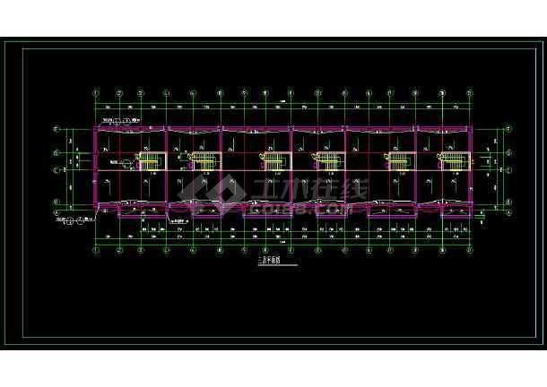 某地联排住宅楼建筑设计cad施工图-图3