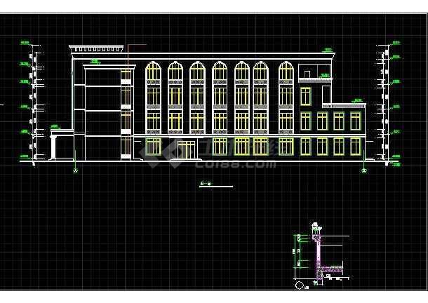 某高级中学特色食堂全套建筑设计施工图-图2