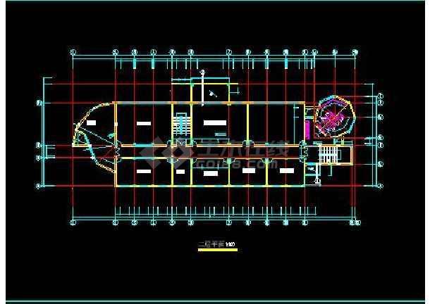全套小学综合楼建筑扩初CAD图纸-图1