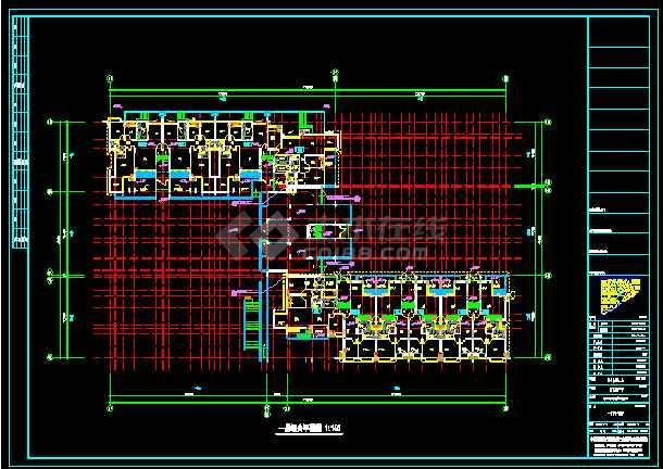 六层带地下车库框架住宅楼建筑施工图纸-图3