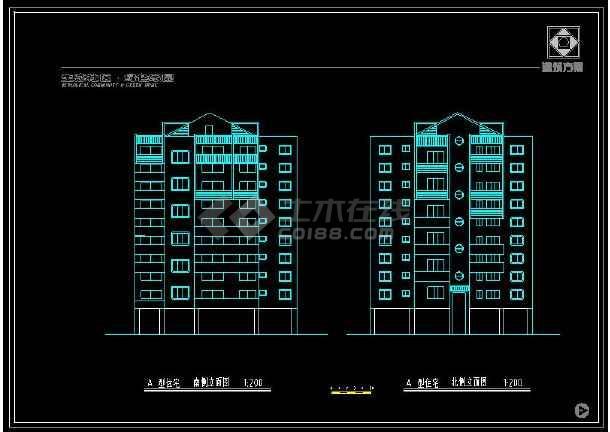 某地会展中心及周边住宅楼建筑设计cad施工图-图1