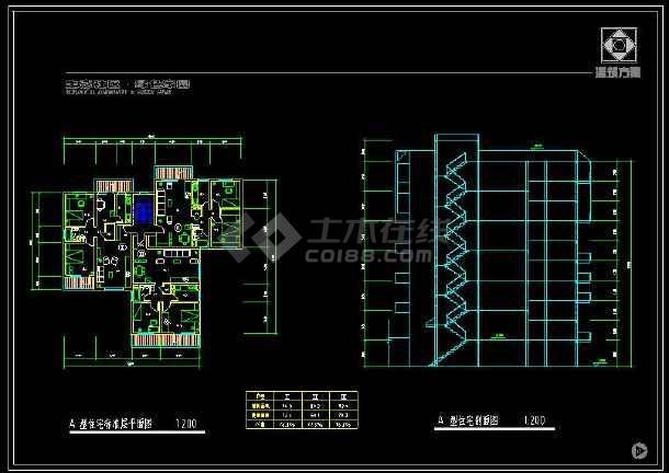 某地会展中心及周边住宅楼建筑设计cad施工图-图2