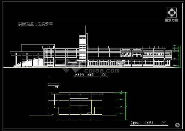 某地会展中心及周边住宅楼建筑设计cad施工图-图3