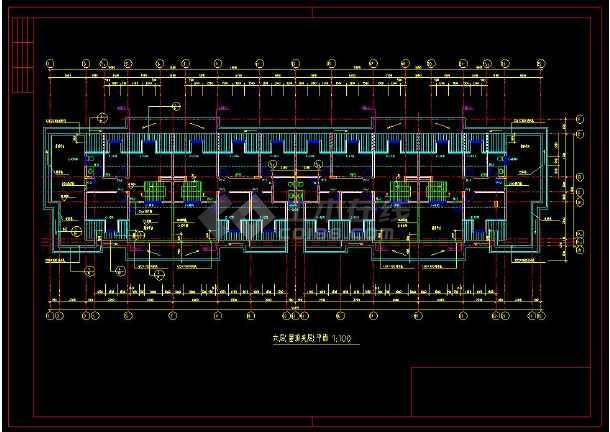 某学校教师公寓楼建筑设计cad施工图-图3