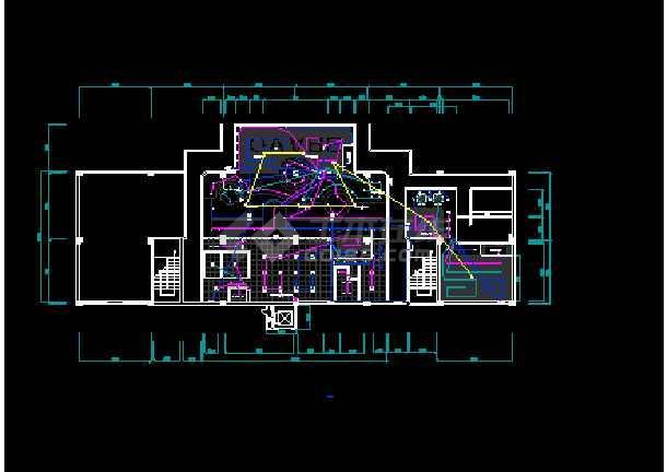 某地西餐厅全套室内装修CAD平面布置施工图纸-图2