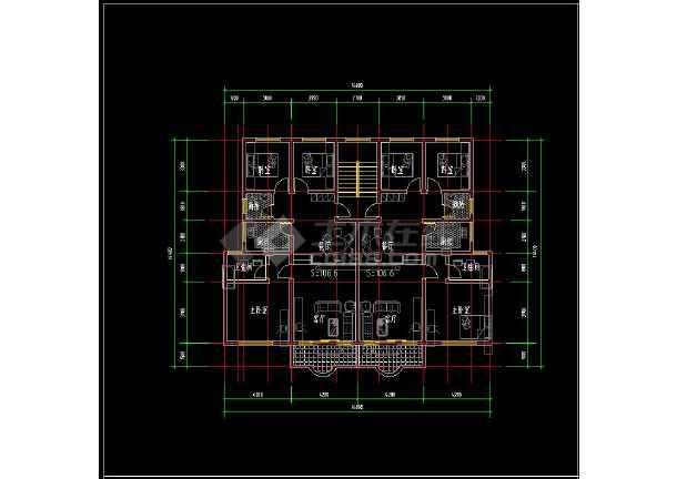 某楼盘项目住宅户型cad平面设计方案图纸-图1