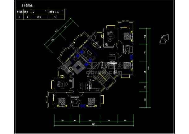 某楼盘项目住宅户型cad平面设计方案图纸-图2