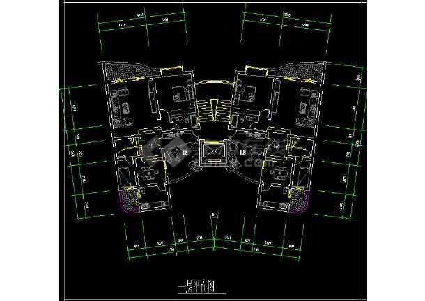 某楼盘项目住宅户型cad平面设计方案图纸-图3