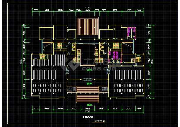 上海某现代型高校综合楼全套建筑设计图纸-图3