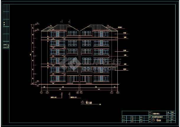 某住宅小区多套复式公寓cad建筑施工设计图-图1